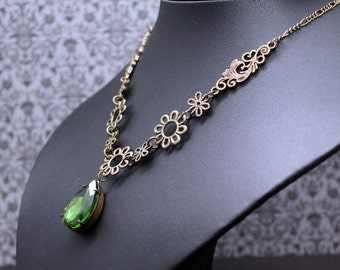 Necklace chain - bronze green