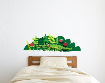 Crocodile wall decal / decal / wall sticker / home decor /  kids room decor / kids decal / children decal / room decor / wild animal