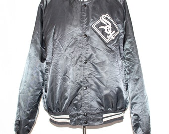 Vintage Chicago White Sox Satin MLB Chalk Line Jacket XL