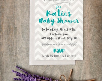 Package - Baby Shower Invite and Welcome Sign