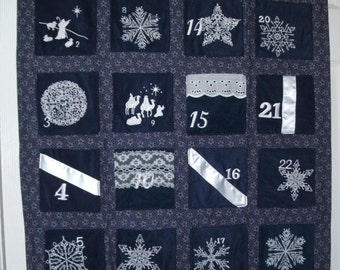 Classic Navy Snowflake Advent Countdown Calendar