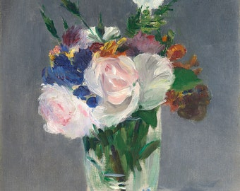 """Edouard Manet : """"Flowers in a Crystal Vase"""" (c. 1882) - Giclee Fine Art Print"""