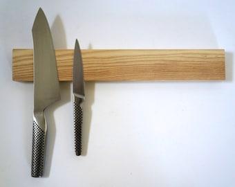 Magnetic Wooden Knife Rack.