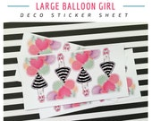 Balloon Girl (Larger) Deco Sticker Sheet For Your Planner