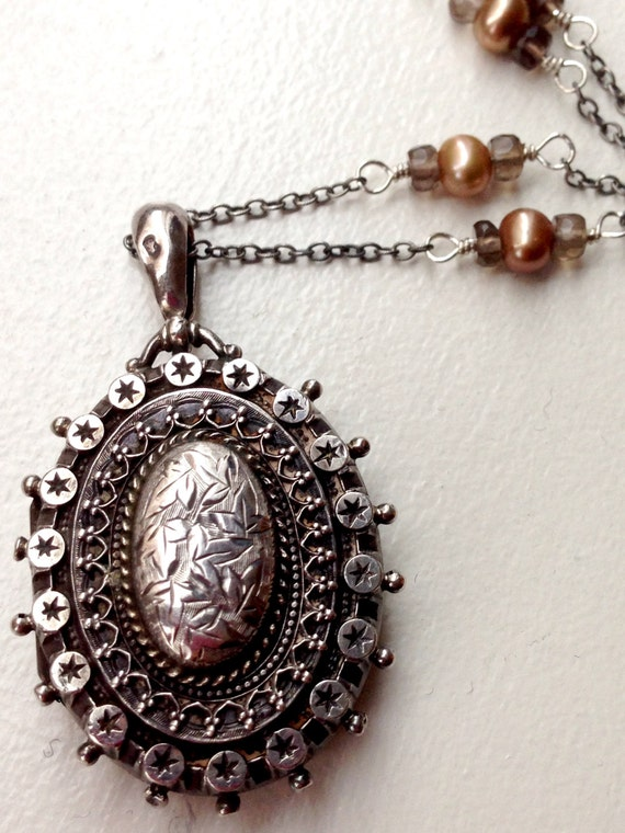 Victorian Sterling Silver Mourning Locket