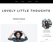 Lovely Little Thoughts Premade Blogger Template Theme - Responsive Blogger Template - Minimalist Modern Template - Lifestyle