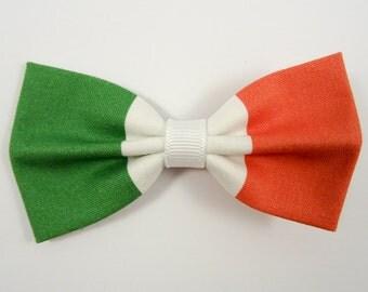 Italian Flag Hair Bow