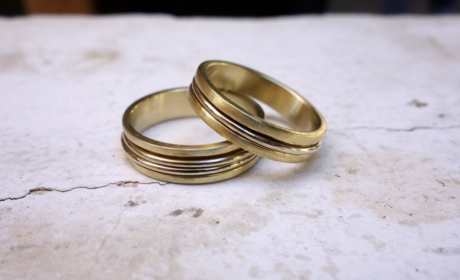 Matching Wedding Rings His And Hers Wedding Bands Mixed Metal