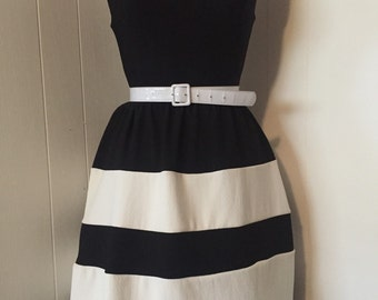 Vintage Style Black and White Pinup Dress