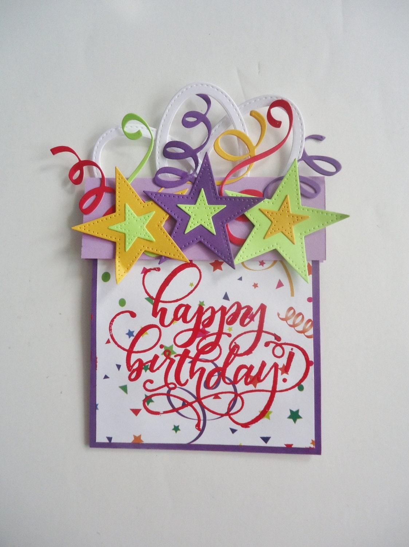 Gift card holder Happy Birthday handmade Insert gift card