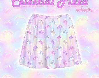 """Pastel """"Celestial Pizza"""" Skirt"""