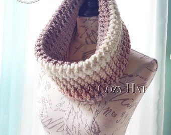 Ready to Ship / Hooded Cowl / Hooded Scarf / Crochet Cowl / Snood Hood / Chunky Cowl / Neck Warmer / Custom Color / Sale // Buttercream //
