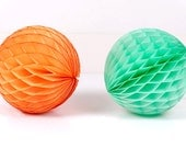 5 inch Honeycomb Ball - Mint Green, Peach, Light Pink, Orange or Gray or Ivory