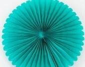 Teal Paper Fan 10 inch