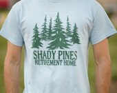 Shady Pines Retirement Home - Funny Shady Pines Ma Golden Girls T Shirt - Unisex Cotton T Shirt - Item 2805