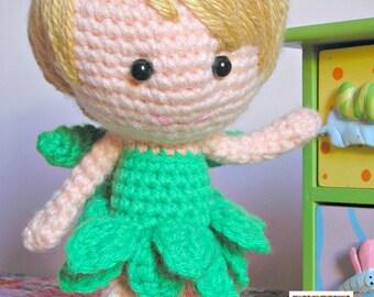 Amigurumi doll - Fairy - 'Tinkerbell Cosplayer' - Crochet doll - Crocheted doll - Amigurumi Fairy doll - Crochet Fairy doll