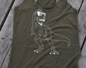 Tyrannosaurus Rex Tank, Dinosaur, T Rex, Dino Shirt
