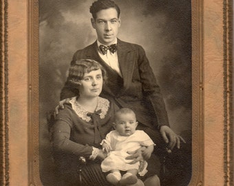 Antique Photo of Sweet Family of Three