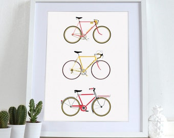 Bike, Bicycle, Bikes, cycling, cycle, Bicycle Poster Wall Art Print Home Décor