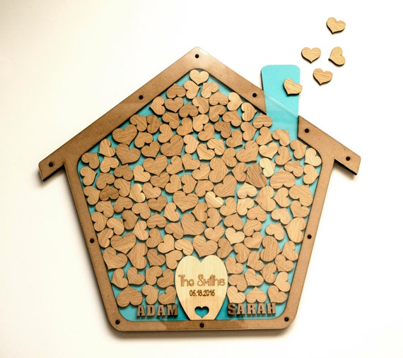 Wedding Gift Drop Box : ... Drop box guest book hearts Unique wedding wood Rustic wedding Wedding
