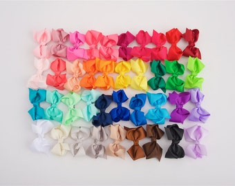 Girls bows, 3 inch bow clips, PICK 15, little girl bows, girl bows, hair bows, bow clips for girls, set of 15 dollar bows, cheap bows