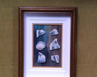Japan Beach Pottery Framed Art 2