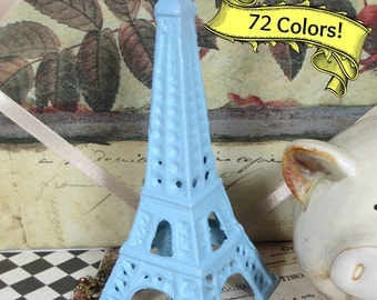 Eiffel Tower Shabby Chic Cast Iron in Baby Blue