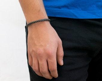Men's Bracelet - Men's leather Bracelet - Men's Jewelry - Men's Gift - Boyfriend Gift - Husband Gift - Guys Bracelet - Guys Jewelry