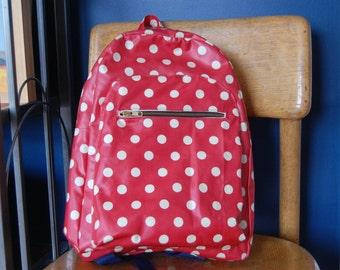 Red Polk-a-Dot Backpack