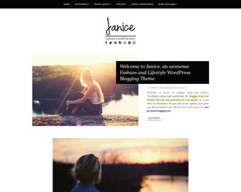 Janice- WordPress Themes for Lifestyle, Fashion Blogger