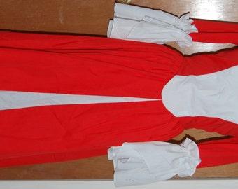 Red/white homemade costume