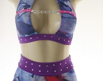 Exotic Dancewear Tie Dye 2 piece