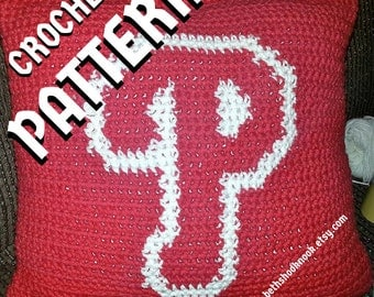 Crochet Pattern - Phillies 'P' Logo - Instant Download