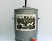 Unique Zinc Bucket Related Items Etsy