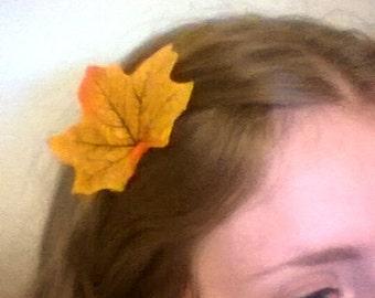 Autumn Nymph Leaf Hair Grips