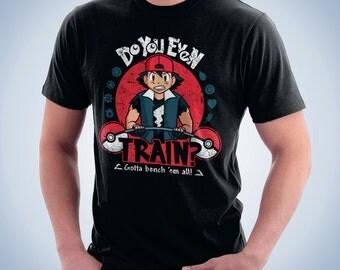 Gotta Bench 'Em All - Pokemon Shirt | T-shirt for Women Men | Funny t-shirt for kids