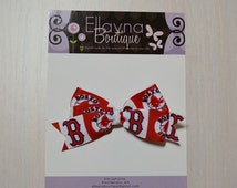 Boutique Style Hair Bow - Boston Red Sox 2