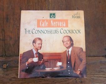 Cafe Nervosa: The Connoisseurs Cookbook Paperback Book Dr Frasier Crane  Dr Niles Crane Gift Idea