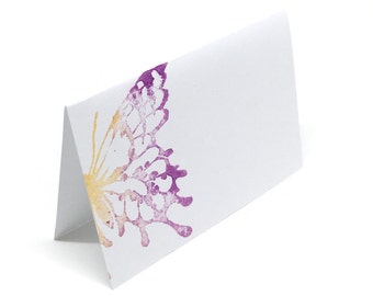 Butterfly Place Cards - Table Decor - Blank Place Card - Place Cards - Table Seating Card - Hostess Gift Ideas - Stamped Place Cards
