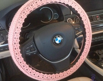 Steering wheel cover car cozy Decor crochet knit accessories car gift