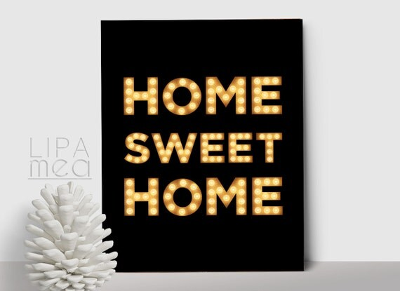 Home sweet home print printable wall art modern home decor Home sweet home wall decor