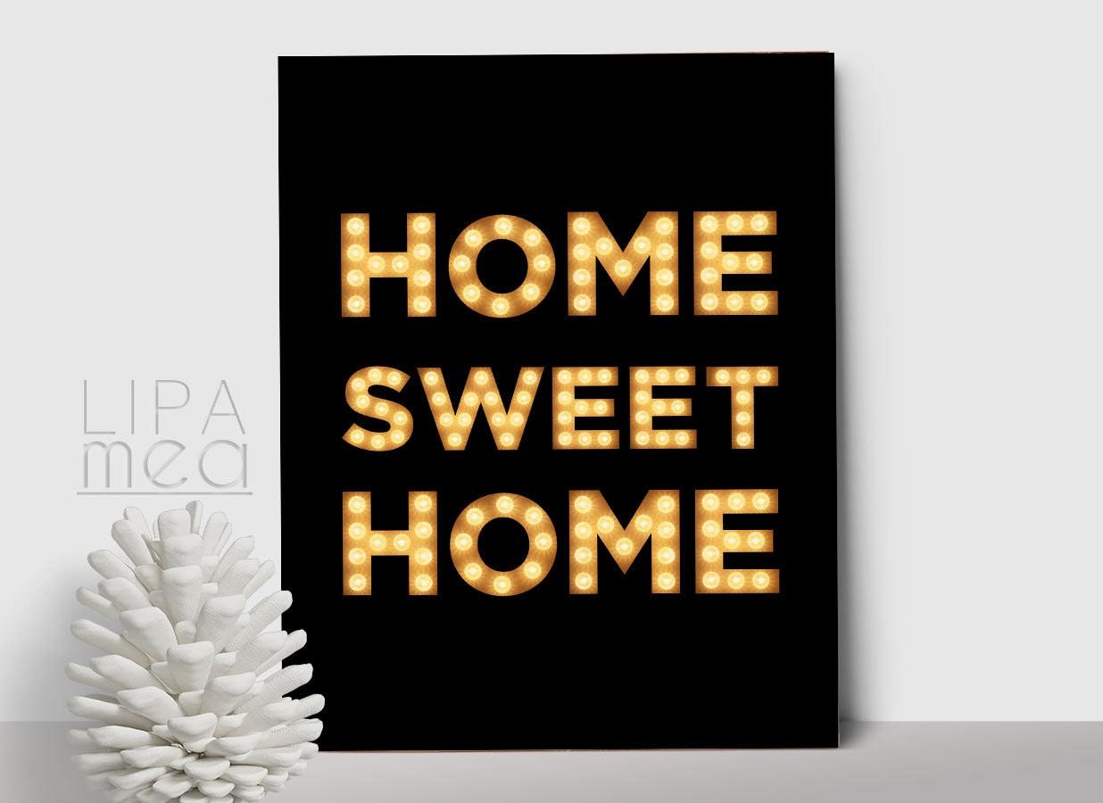 Home sweet home print printable wall art modern home decor - Home sweet home decorative accessories ...