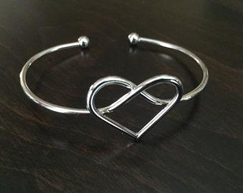 Heart Bracelet, Heart Bangle, Heart Bracelets, Heart Bangles, Bracelet, Bangles, Bangle Bracelet, Adjustable Bracelet, Adjustable Bangle