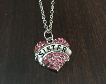 sister necklace, sister jewelry, sister, sister gift, big sister, gifts for sister, little sister, big sister gift, little sister gift
