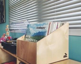 """Angular 12"""" Vinyl Record Box."""