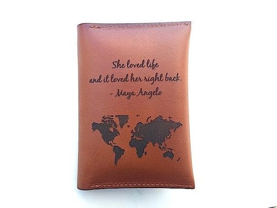 Custom Passport Holder Quote Map Passport Cover Best Friend