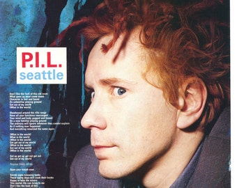 John Lydon PIL Seattle lyrics Public Image Limited UK magazine Pinup