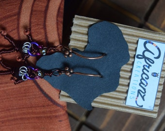 African Earrings - Handmade by a South African - Wire Art Jewelry
