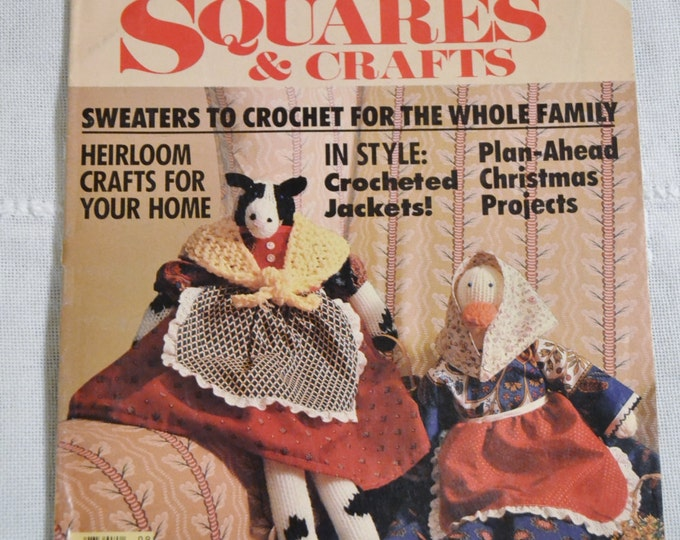 Granny Squares and Crafts Magazine Womans Day Crochet Patterns Vintage Instructions DIY Panchosporch