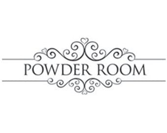 Powder Room Decal: Powder Room Wall Decor